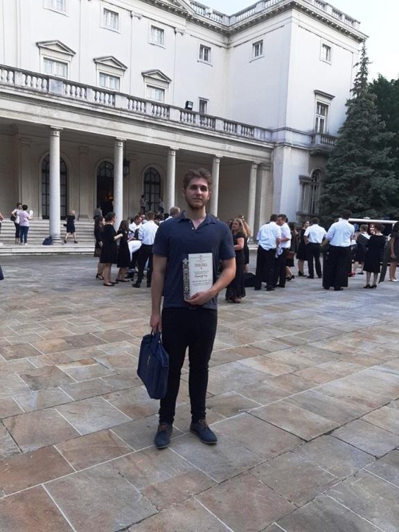 Игор Радовановић на пријему код Карађорђевића